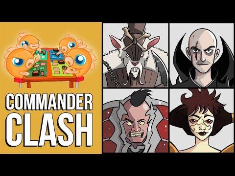 Commander Clash S5 E19: Mono-Black Week! (Phage vs. Geth vs. Ob Nixilis vs. Marrow-Gnawer)