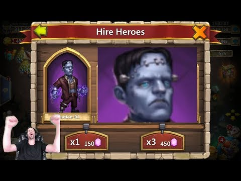 Rolling 100,000 For Frankenstein GOTTEM OneTIME!! Castle Clash