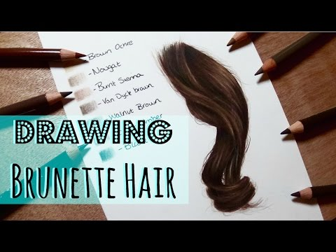 drawing-tutorial:-realistic-brunette/-brown-hair-in-coloured-pencil