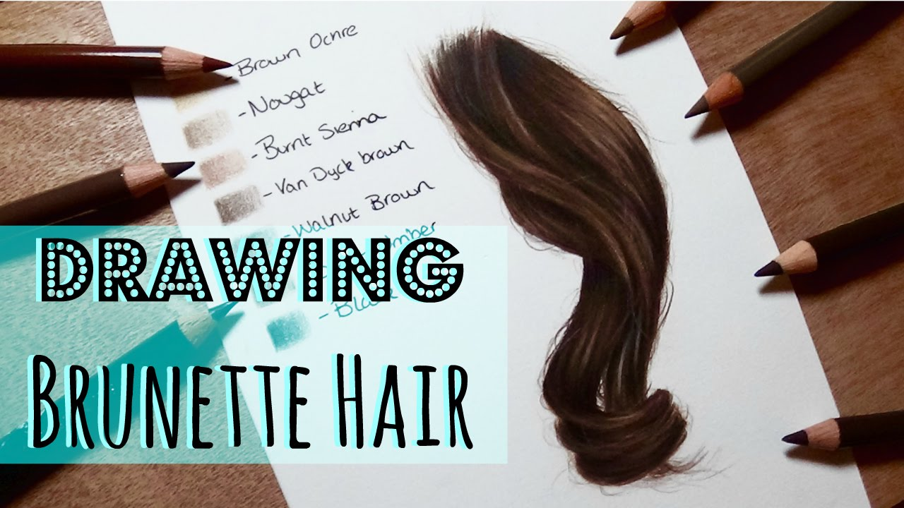 Drawing Tutorial Realistic Brunette Brown Hair In