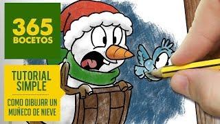 COMO DIBUJAR UN MUÑECO DE NIEVE / how to draw a snowman