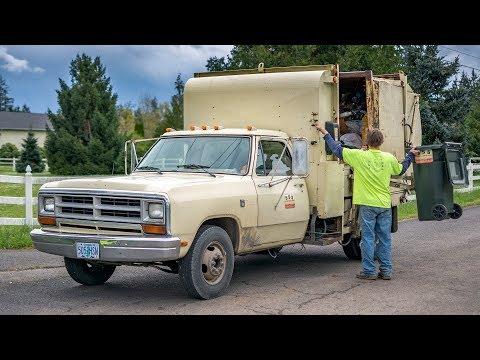 "1986 Dodge Ram 350 - Hesston Corp. ""Pak-Rat"" Garbage Truck"