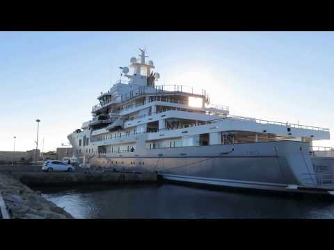 "IMPRESSIVE MEGA EXPLORATION YACHT"" ULYSSES"" 107 Metres one biggest boat in the world"