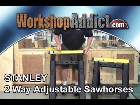 STANLEY 2 way adjustable sawhorses