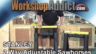 Stanley 2 Way Adjustable Sawhorses