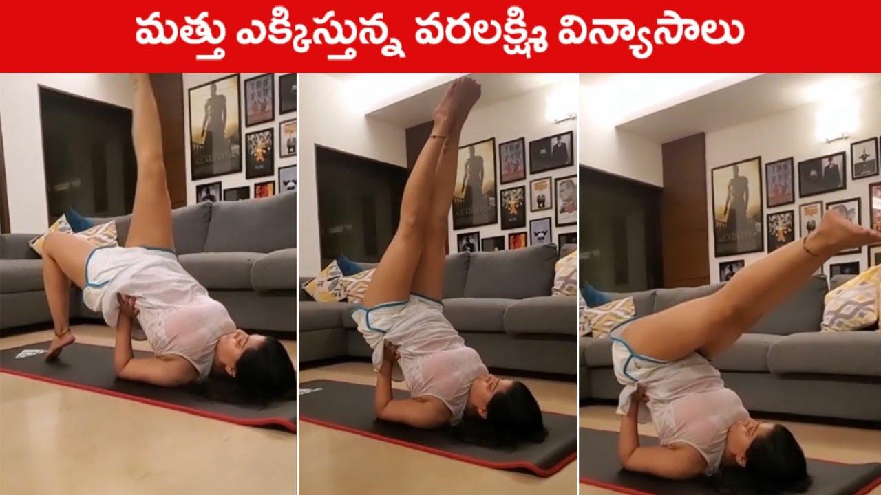 Download Actress Varalaxmi Sarathkumar Super Flexibilty Body   Varalaxmi Fitness Goals   Rajshri Telugu