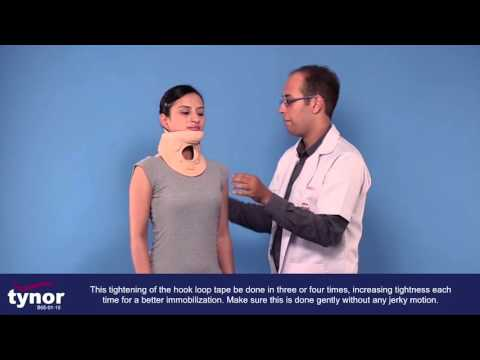 How to wear Tynor Cervical Orthosis Philadelphia