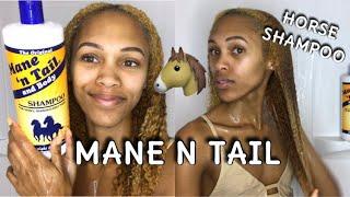 MANE N TAIL On Natural Hair | Grow Horse Length Hair