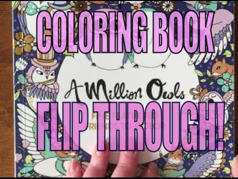 A MILLION OWLS By Lulu Mayo COLORING BOOK FLIP THROUGH