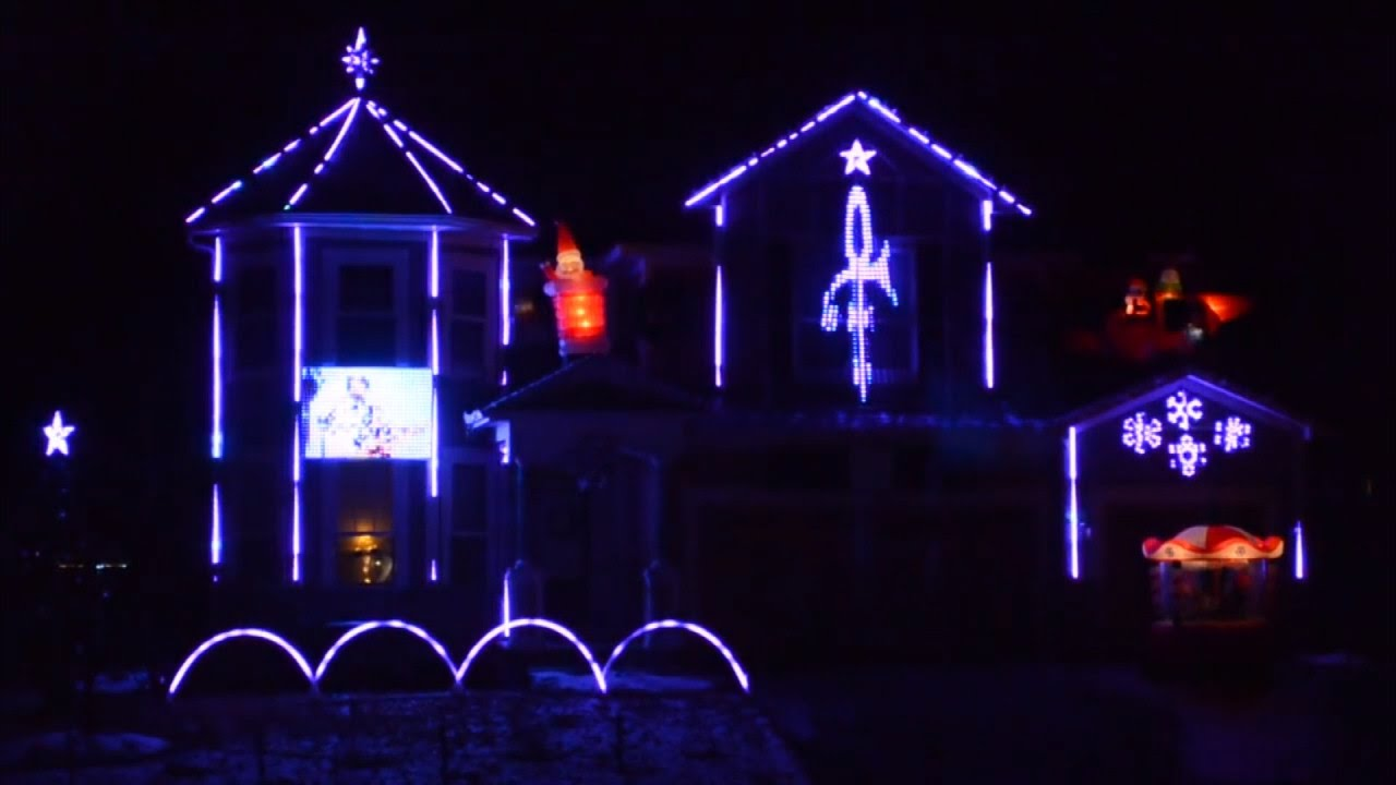 man creates epic christmas light display on home set to princes purple rain youtube