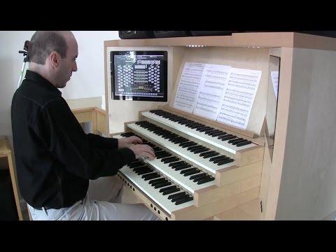 Mendelssohn - Hark! The Herald Angels Sing (Christmas carol, organ solo, hauptwerk, Hereford)