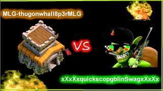 GOBLINS VS TOWNHALL -CLASH OF CLANS MLG - MONTAGE MLG