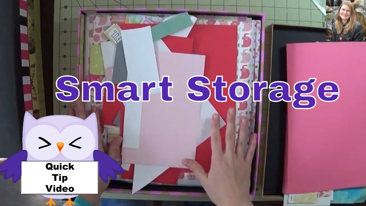 Quick tip #10 - Smart Storage Ideas - Storage Boxes - 12 X 12 Papers - Scrapbooking - Card Making & Quick tip #10 - Smart Storage Ideas - Storage Boxes - 12 X 12 Papers ...