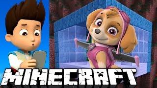 ДОМ ЩЕНЯЧЬЕГО ПАТРУЛЯ в МАЙНКРАФТ для СКАЙ - Новый дом в скале. Minecraft #14 Развивающий мультик