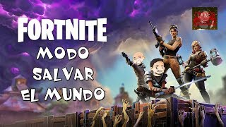 Fortnite Save the World mode. Gameplay in Spanish