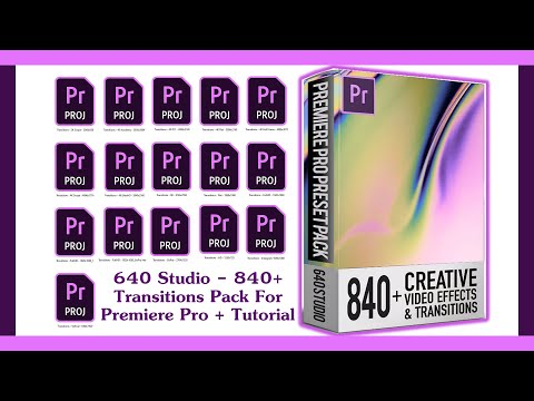 640 Studio – 840+ Transitions Pack For Premiere Pro
