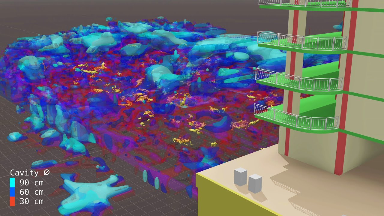 Miami Surfside Air Pockets in Debris Heap Visualization |  Champlain Towers Condo Florida