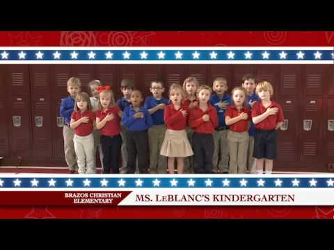 Daily Pledge Brazos Christian School-Ms. LeBlanc