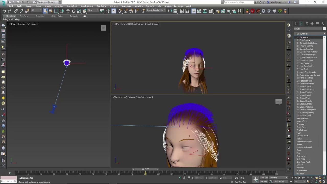 Ornatrix 3dsmax: Hair LOD using Generate Guide Data Modifier