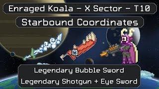 Starbound Coordinates [X][T10]: Legendary Eye Sword + Bubble Sword + Shotgun