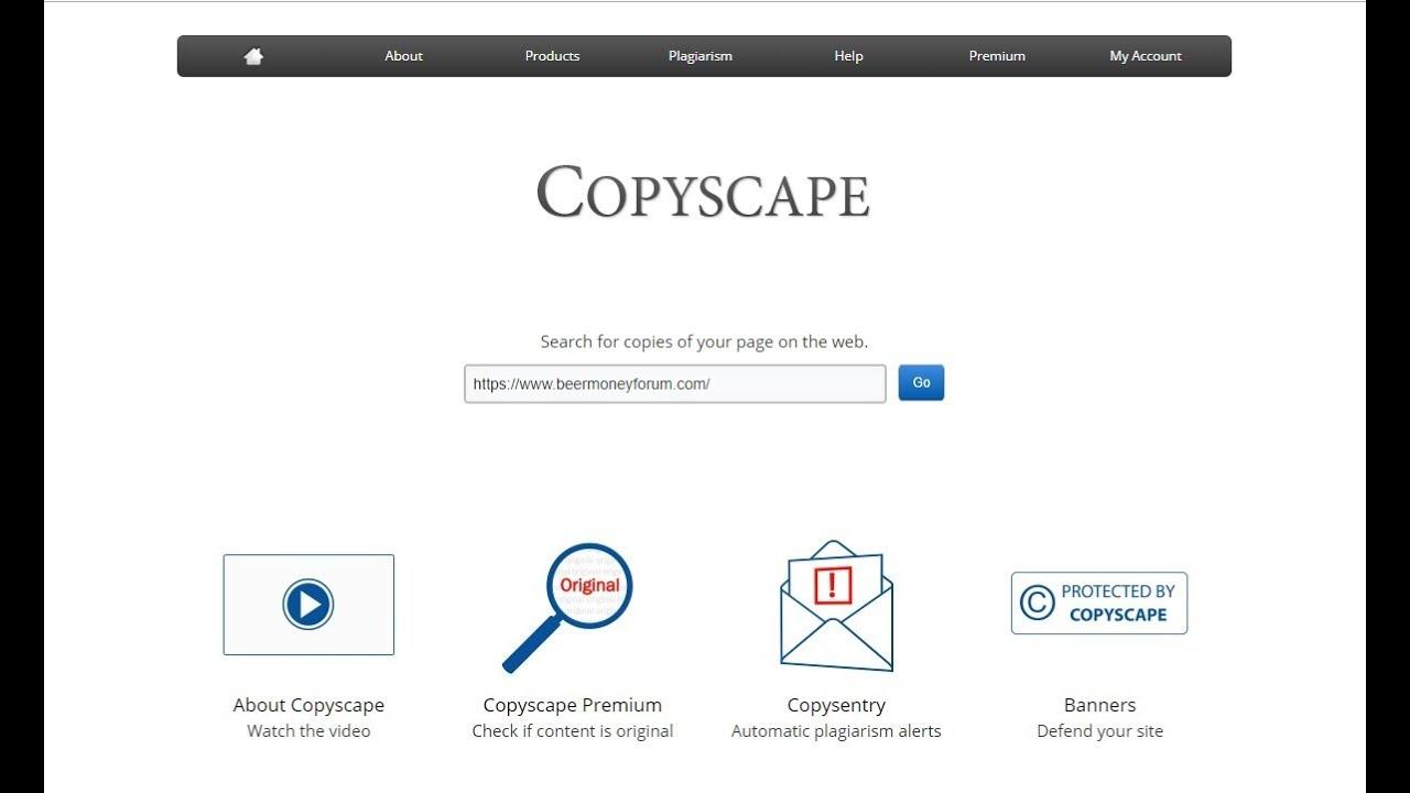 Copyscape test