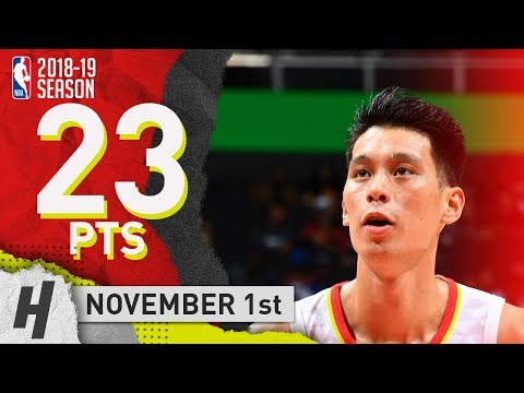 Jeremy Lin Full Highlights Hawks vs Kings 2018.11.01 - 23 Pts!