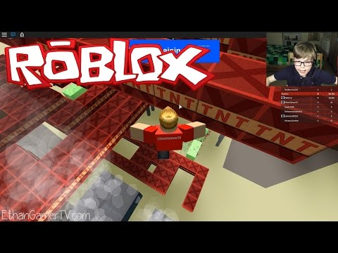 JUMPING FOR MY LIFE! | Roblox TNT Rush | Kid Gaming