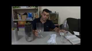 Vaso ecológico 100% reciclado com reservatório de água (anti dengue)