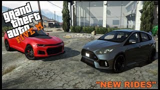 GTA 5 ROLEPLAY - NEW CHEVY CAMARO ZL1 AND FOCUS RS DRAG RACE  - EP. 337 - CIV