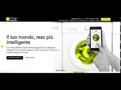 Things Mobile - Come Vedere La Versione Demo Del Portale IOT