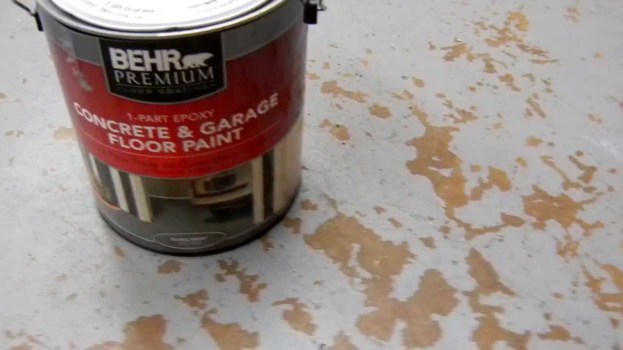 Behr Concrete And Garage Floor Paint Problems With 010 Mov Youtube
