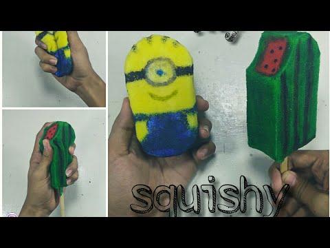 Cara membuat squishy sederhana dari spons cuci piring