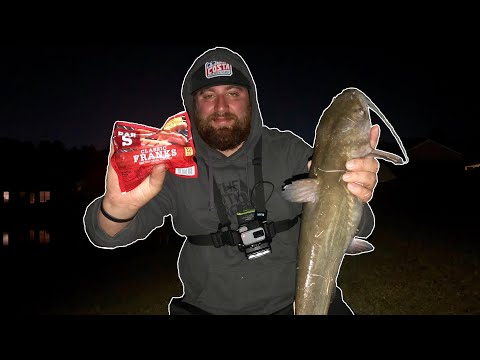 Catching Channel Catfish With Hotdogs!?