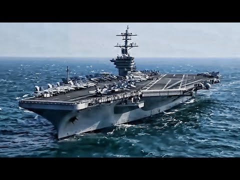 U.S. Navy Aircraft Carrier • Replenishment At Sea & VERTREP