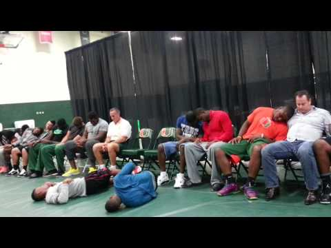UM Football Team Hypnotized by Lenny Moore Pt 2 of