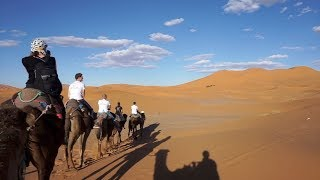 RIDING CAMELS IN MOROCCO - SAHARA DESERT TOUR