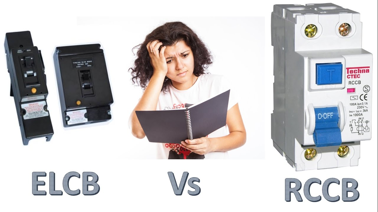 Difference Between Elcb And Rccb Vs Rcd 32a 2p Transparent Residual Current Circuit Breaker Diy Electricals