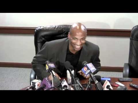 New Orleans Hornets GM Dell Demps speaks after selling the pick to the Knicks