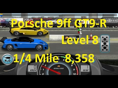 Drag Racing Porsche 9ff GT9-R Level 8 Tune 8,358 1/4 Mile