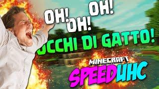CANTARE OCCHI DI GATTO SENZA VOLERLO! - Minecraft SpeedUHC con TearlessRaptor