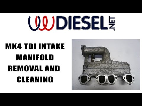 How to Remove and Install and Clean a MK4 TDI Intake Manifold Jetta Golf Beetle