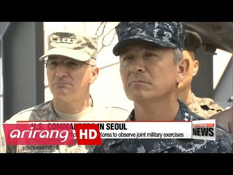 Top U.S. commanders visit S. Korea to observe joint military exercises