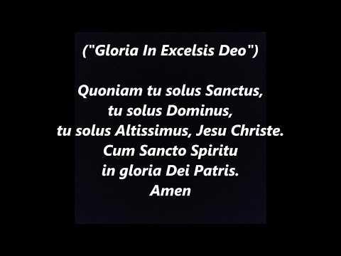 GLORIA LATIN GREGORIAN CHANT MASS Ordinary LYRICS WORDS BEST TOP POPULAR SING ALONG