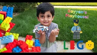 Exploring toys and unboxing Rayyan's First Lego Toy!