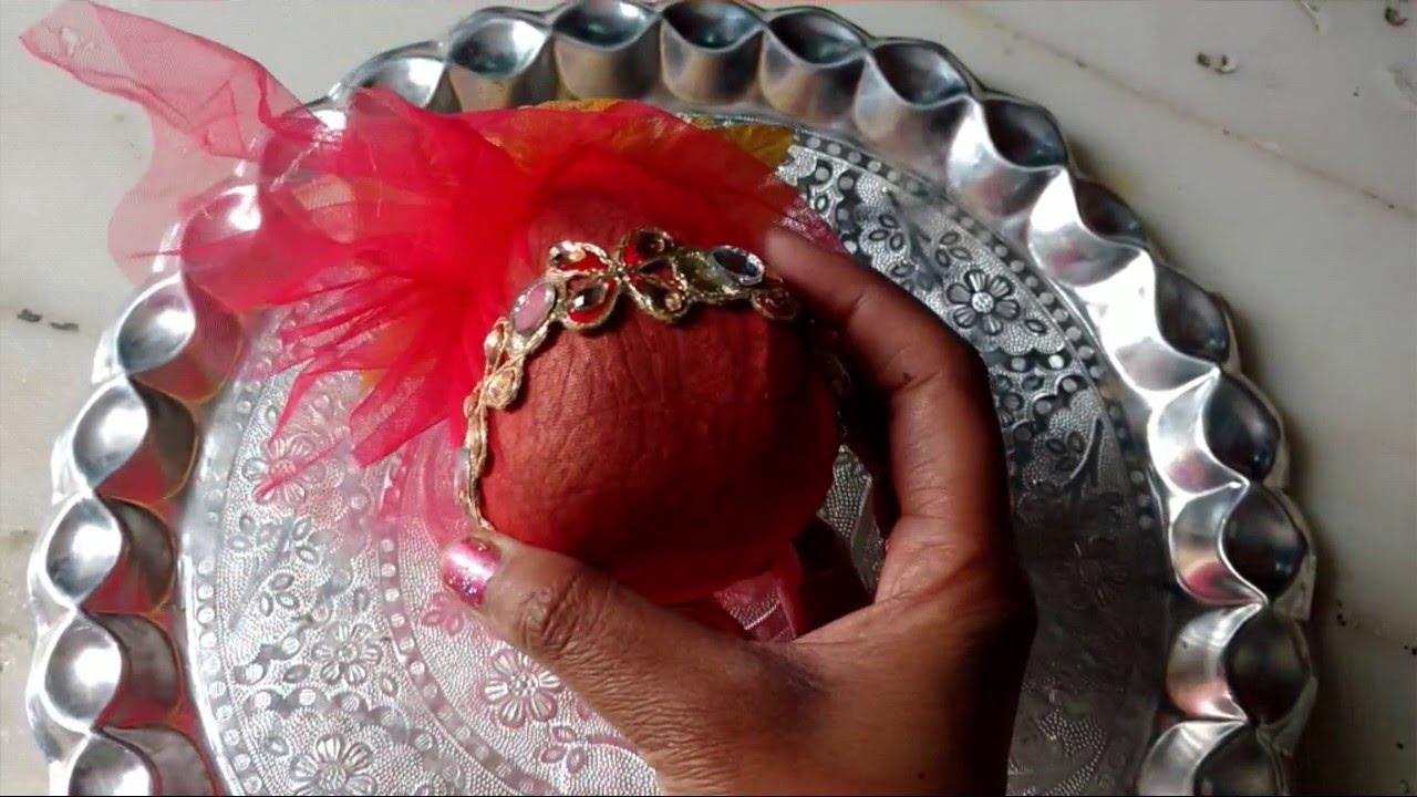 Indian Wedding Craft Shagun Nariyal Packing Decoration Idea Youtube