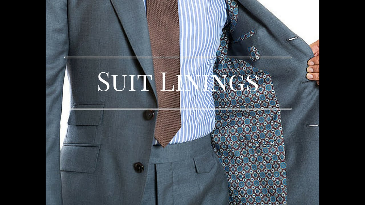 An Intro To Suit Linings Unlined Quarter And Fully