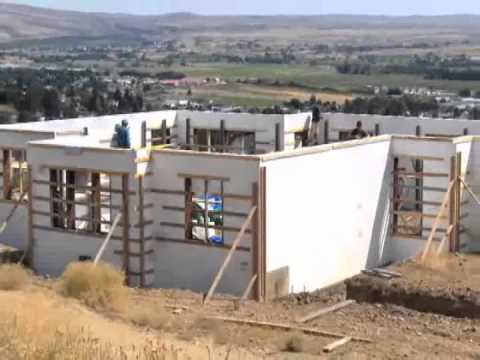 Ras eco block icf construction youtube for Icf residential construction