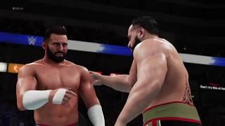 RUSEV VS UMAGA - WWE SMACKDOWN LIVE 13TH JANUARY 2018