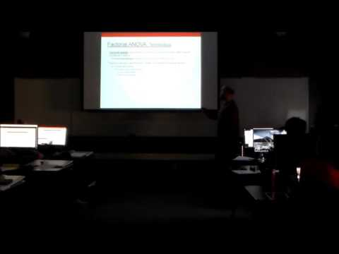 Factorial ANOVA, Pt 1 (Psyc 5060 Lecture 11)