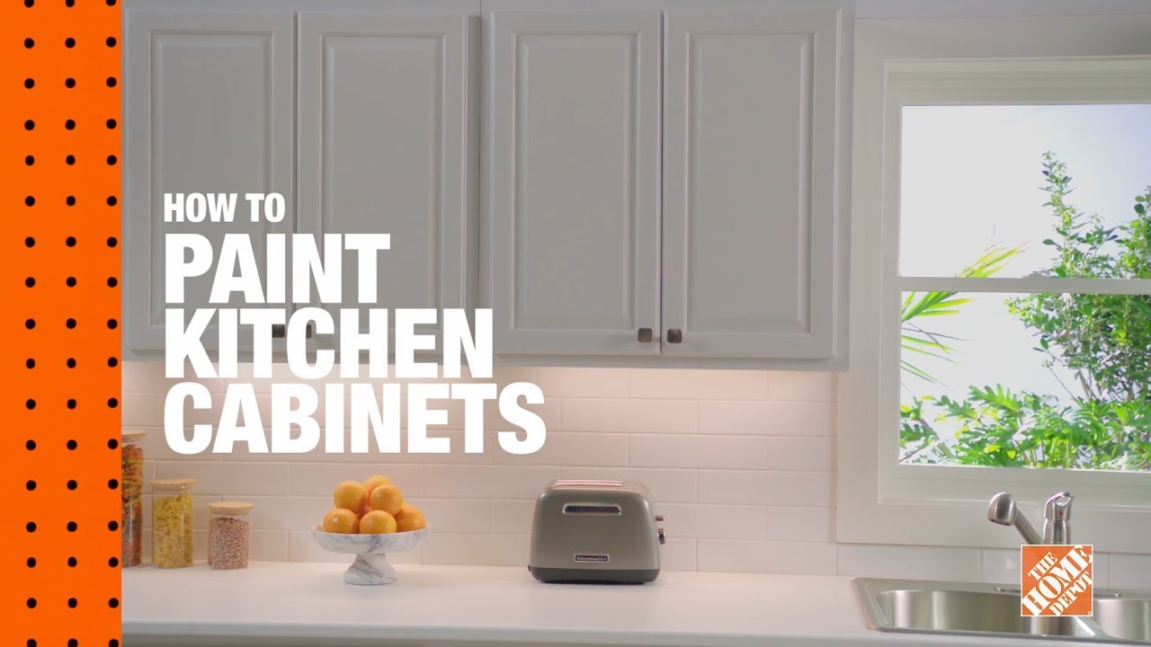 How To Paint Kitchen Cabinets The Home Depot Youtube